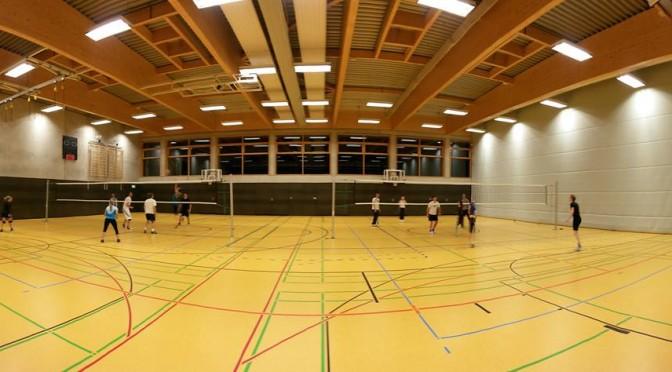 Volleyball-Training in der Halle beim SCR