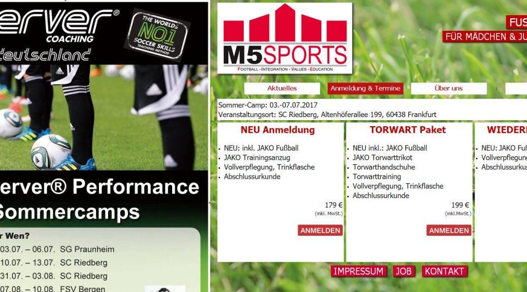 Fußballcamps beim SC Riedberg