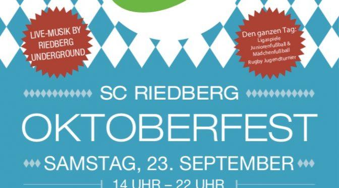 2. Oktoberfest des SC Riedberg!